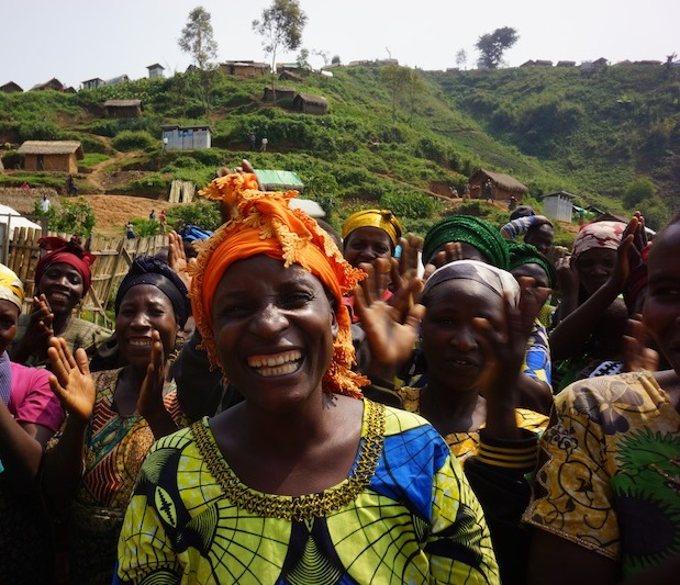 Photo of a Group of Women in the DRC