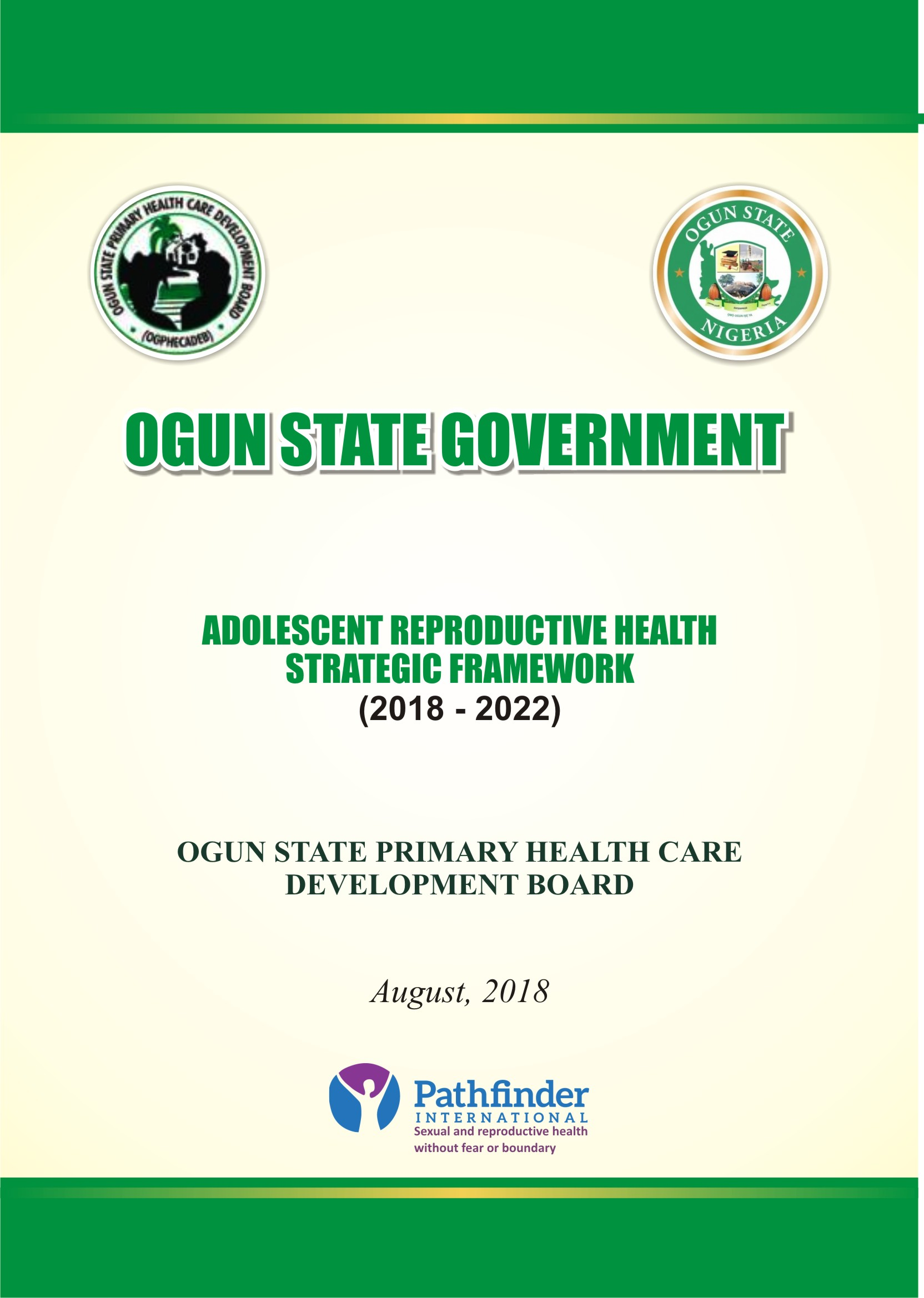 Adolescent Reproductive Health Strategic Framework