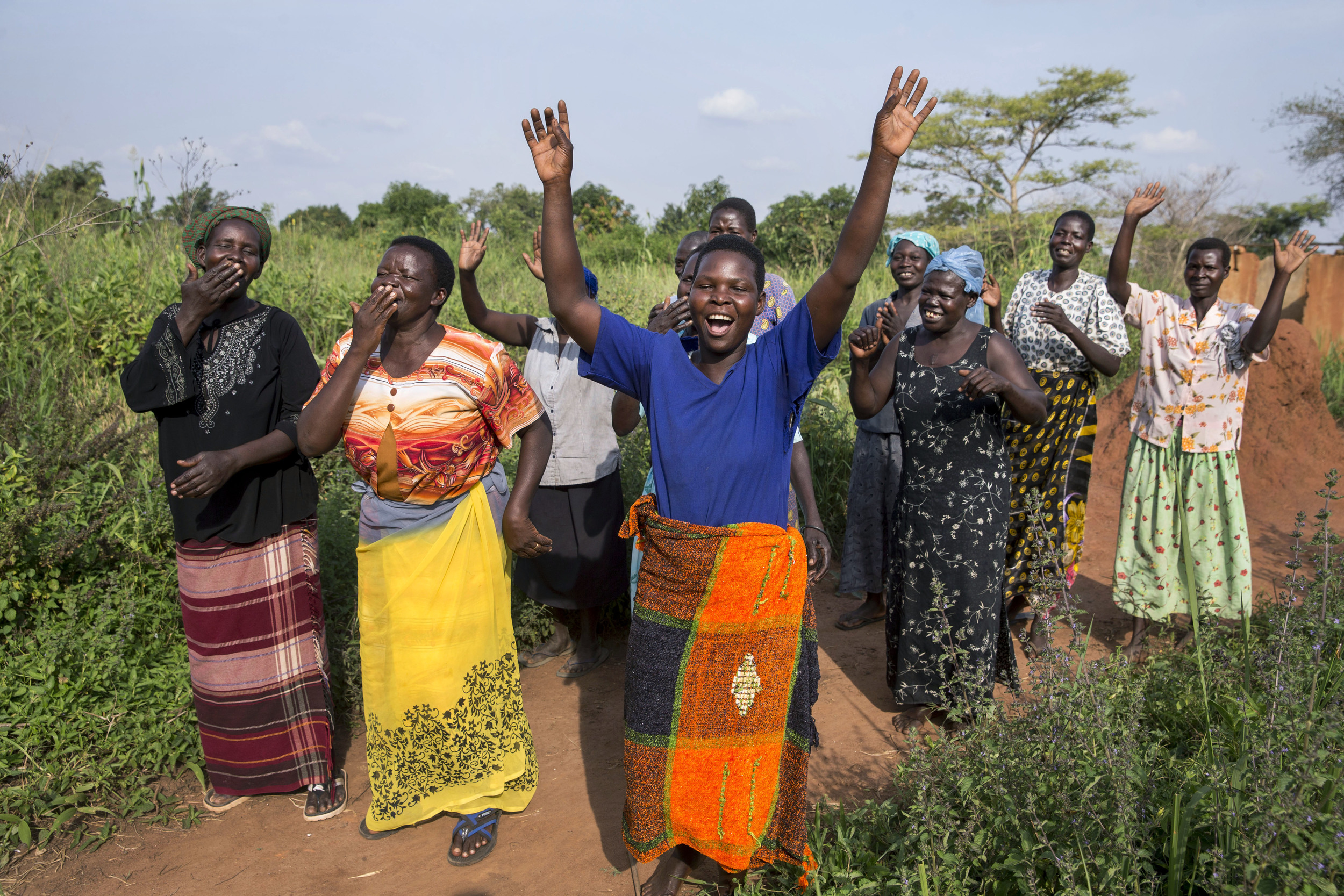 Women from the Self Help Group Alita Kole in Ayala, Uganda