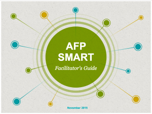 AFP Launches New Guide For Smart Advocacy Facilitation